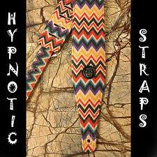 HYPNOTIC STRAPS ZIGZAG RED PURPLE YELLOW BLACK GUITAR BASS ACOUSTIC STRAP BELT