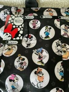 NWT LeSportSac Disney Minnie Mouse Large Tote + Matching Pouch So cute and HTF
