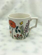 Vintage Retro JAPAN Small Floral Orange Butterfly Coffee Mug