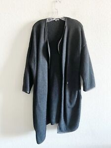 Vince Black Cashmere Wool Alpaca Duster Cardigan Size Medium