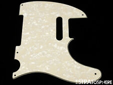 *NEW Aged Pearloid Telecaster PICKGUARD for Fender USA Vintage Tele 3 Ply 5 Hole