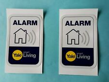 2X  Yale smart living alarm security warning window labels stickers