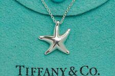 "Tiffany & co. 92.5% Silver Star Fish By Elsa Peretti 15.75"" Necklace"