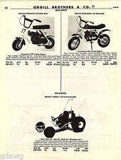1981 ADVERT Clinton AMF Roadmaster Moped Manco Streaker Mini Bike Dingo Go Cart