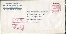 THEATRE ITI 1990 CHINA AIRMAIL to LONDON PRINTED ENVELOPE