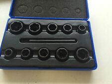 11 Pièces Chrome Molybdène Special Twist Socket Set, 9-19 mm, 3/8' Drive Outil