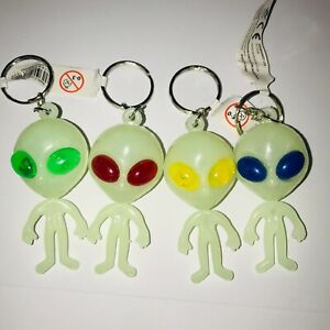 Alien Keyring Glow in the Dark ( you can choose which colour to get )
