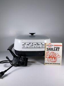"VINTAGE WEST BEND 11"" ELECTRIC SKILLET Non-Stick  72009 Instruction Manual Cord"