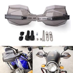 2x Smoke Motorcycle Handguard Handlebar Protector Cover w/ LED Turn Signal Light