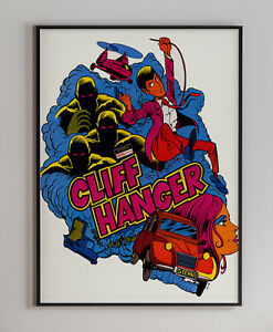 Cliff Hanger 1983 Arcade Video Game Retro Print Poster 18 x 24 inches