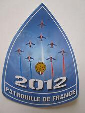 AUTOCOLLANT STICKER ARMEE DE L'AIR ALPHA JET DASSAULT PATROUILLE DE FRANCE 2012