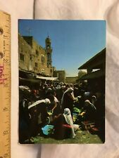 Postcard Bethlehem Market Place Jerusalem Palestine West Bank Chrome VIntage