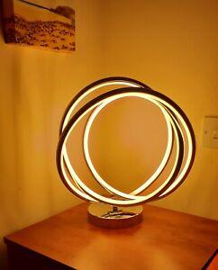 Stunning LED strip light sculpture circle table lamp