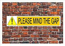 Railway Reproduction  Metal Sign Station Sign Train Sign MIND THE GAP Tube train