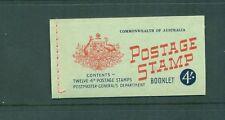 Australia 1957- 1959 4s with Wax interleaves Qeii Booklet Sg Sb34a