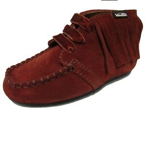 Venettini 55-BROOK Rust Suede Mocassin Lace-Up, 6.5 US Toddler