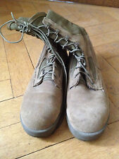 USMC Combat Boots Knight Boots Suede Beige Made in USA 11.5e EUR 45/46