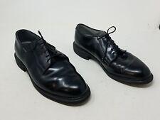 Bates Uniform Footwear Black Dress Shoes Vibram High Gloss Oxford 9.5 D Military