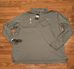 Charlotte Hornets Nike Jordan Half-Zip Pullover Jacket 4XLT 4XL Tall