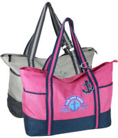 Strandtasche XXL große Badetasche Freizeittasche Schultertasche in 2 Farben