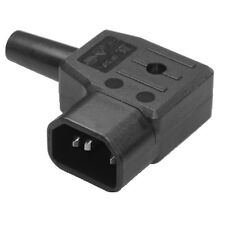Rewireable Black C14 Right Angle Angled Mains Power Plug Connector Screw 10A HQ