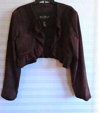 Ashley Stewart (2X) Plus Size Brown Suede Jacket