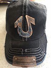 "NWT TRUE RELIGION ""HORSESHOE"" UNISEX  HAT CAP VINTAGE BLACK AUTHENTIC"