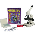 AmScope 40X-1000X Student Biological Compound Microscope Turn Key Package