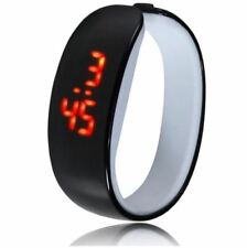 Fashionable Women's LED Bracelet Digital Bangle Watch (Black)