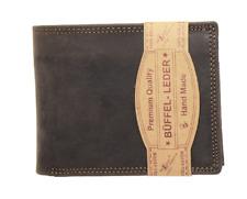 RFID / NFC Geldbörse Naturleder Büffelleder Brieftasche Geldbeutel Portmonai