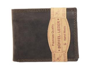 RFID / NFC Geldbörse Naturleder Büffelleder Brieftasche Kartenschutz Portmonai