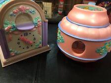 Vintage 1993 Kenner Fairy Winkles Twinkle Time Nursery Clock & Teapot Lot