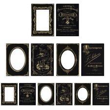 Tim Holtz Idea-ology Cabinet Card Frames - Sophisticate - 6 cards - TH93288