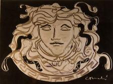 Carlo Massimo Franchi, Medusa, tecnica mista, 28.5x39.5 cm, opera firmata