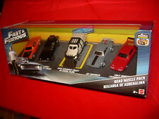 fast and furious road muscle 5 car pack 1:55 die cast scale model new mattel