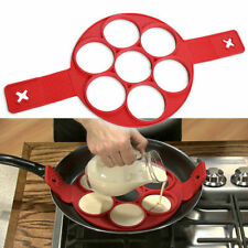 Breakfast Maker Flip Cooker Silicone Non Stick Fantastic Egg Ring Omelet Pa G7X2