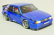Custom RC 1/10 Drift Alfa Romeo 75 Turbo AWD Belt CAR Blue RTR
