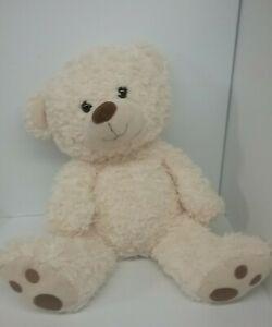 "HUGFUN INTERNATIONAL Beige Teddy Bear Stuffed Animal Large 18"" Tall PLUSH TOY"