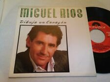 "MIGUEL RIOS - DIBUJA UN CORAZON 7"" SINGLE - ROCK"