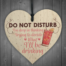 Home Bar Sign Wooden Heart Novelty Garden Kitchen Pub Wall Plaque Gifts for Her