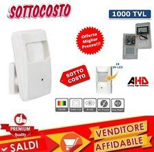 TELECAMERA NASCOSTA INTERNO FINTO SENSORE ALLARME MOVIMENTO AHD 1000 TVL 1.3MP
