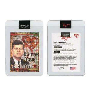 JOHN F KENNEDY President Pop Art DIAMOND DUST Trading Card by Rency S/N of 300
