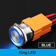 22mm 15A Metal Interruptor de Botón Impermeable con luz de acero inoxidable de bloqueo automático