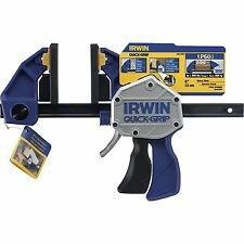 Irwin QUICK-GRIP CLAMP 600mm Heavy Duty, Removable Swivel Jaws, Adjustable Foot