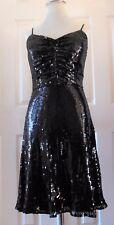 Lyndia Procanix Women Dress Beads All Over Black Cocktails Size 10 NEW