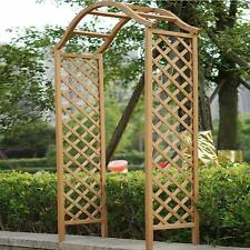 More details for garden arch wooden pergola feature trellis rose climbing plant archway tan frame