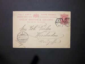GB Late Fee Stationery KEVII 1d Postcard G.S 1 GRACECHURCH ST Duplex to Germany