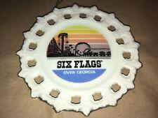 Vintage Six Flags Over Georgia Amusement Park Souvenir PLATE Rollercoaster Train