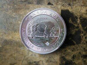 2016 Canadian 1 1/4 oz. 8 dollar Buffalo coin fine silver