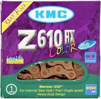 "KMC Z610HX Copper Heavy-Duty Bike Chain 3/32"" 7.8mm Single-Speed 113L BMX Fixed"